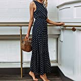 Polka Dot Dress for Women Sleeveless Casual O