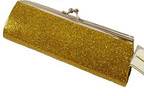Evening Sparkly Golden Purse Clutch KJ Women's qZSPEOwO6