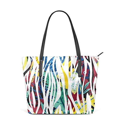 Coosun Abstract Zebra Background Borsa A Tracolla In Pelle Pu Per Donna