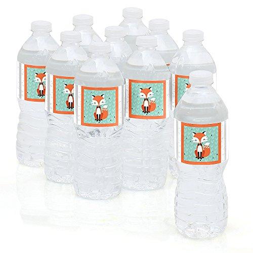 Mr. Foxy Fox – Party Water Bottle Sticker Labels – Set of 10