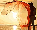 TianMai New Paint by Number Kits - Sunset Lover 16x20 inch Linen Canvas Paintworks - Digital Oil Painting Canvas Kits for Adults Children Kids Decorations Gifts (No Frame)