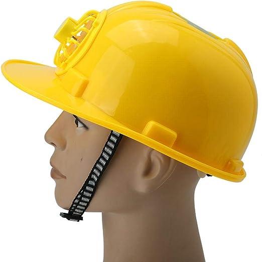 AYNEFY Gorro Duro con Ventilador, Casco Duro de construcción, energía Solar y USB Recargable Ajustable, Apto para Hombres y Mujeres: Amazon.es: Hogar