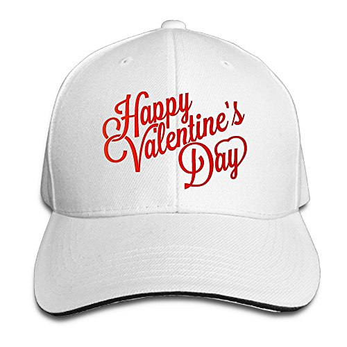 (Fonsisi Creative Happy Valentines Day Clipart Fashion Design Unisex Cotton Sandwich Peaked Cap Adjustable Baseball Caps Hats)