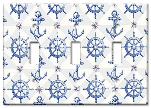 Art Plates - Triple Gang Toggle OVERSIZE Switch/OVER SIZE Wall Plate - - Switchplate Covers Oversize