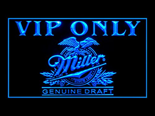 Miller Genuine Draft Beer VIP Only Drink Led Light Sign