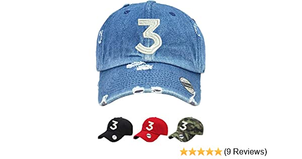 f2ba3515be471 Amazon.com  Allntrends Adult Dad Hat Chance 3 Dad Hat Embroidered Cool Hot  Cap (Black)  Clothing