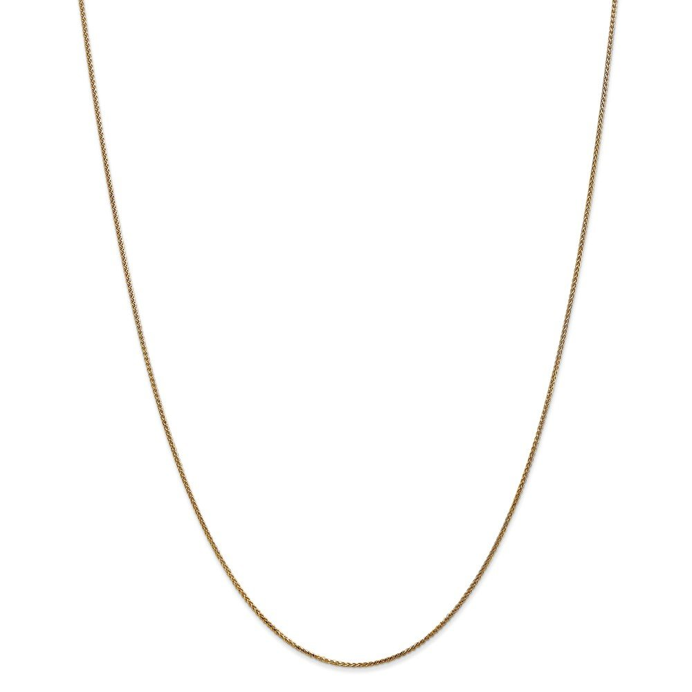 ICE CARATS 14k Yellow Gold 1mm Solid Spiga Chain Necklace 24 Inch Wheat Fine Jewelry Gift Set For Women Heart by ICE CARATS (Image #3)