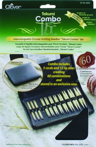 "Clover 3683 Interchangeable Circular Knitting Needles ""Takumi Combo"" Set"