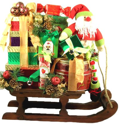 Dashing Through The Snow, Deluxe Christmas Gift Basket
