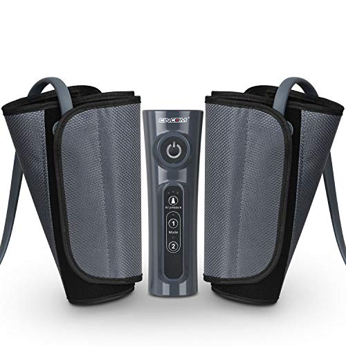 CINCOM Leg Massager for Circulation Air Compression Calf Wraps with 2 Modes 3 Intensities and Helpful for RLS and Edema ()