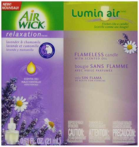 Air Wick Lumin'Air Flameless Candle Single Unit, Lavender Ch