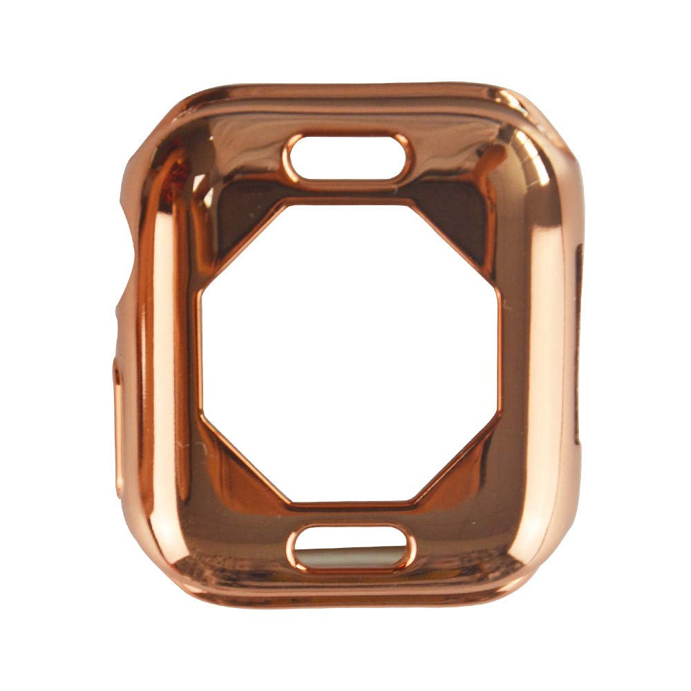 iumei Apple Watch Serie 4 Smart Watch Protection Frame, Fashion Quick Release Soft Sport Plating Ultra-Slim Protected Case Cover for Apple Watch Series 4 40mm (Rose Gold)