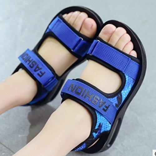 YIBLBOX Kids Boys Breathable Closed-Toe Strap Athletic Sport Sandal Beach Shoes Little Kid//Big Kid