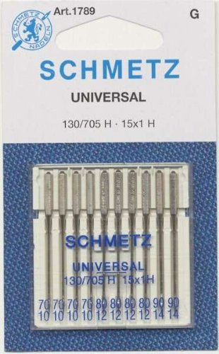 SCHMETZ Universal (130/705 H) Household Sewing Machine Needles - Carded - Assortment - 10 Pack (Assortment Carded)