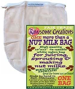 Rawsome Creations, NMB1 More Than a Nut Milk Bag, Single Bag