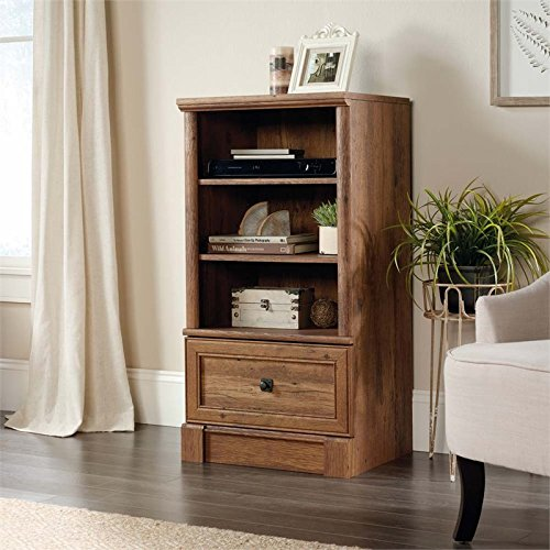 Sauder Palladia 3 Shelf Audio Rack in Vintage Oak by Sauder