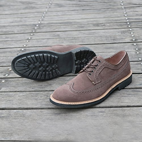 Lace up Casual Brown Oxfords Hawkwell Shoes Dress Lace Men's Classic qntxBR