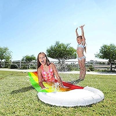 MJLXY Juegos Centrar Patio Interior Niños Adulto Juguetes Inflable Tobogán Piscinas Niños Niños Verano Patio Interior Al Aire Libre Agua Juguetes: Amazon.es: Hogar