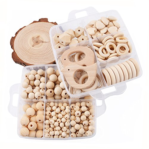 Baby Love Home Wooden Teether DIY Accessories Nursing Jewelry Kit Nature Wooden Organic Baby Teething Ball Moms Popular