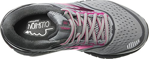 Brooks Women's Ariel '18 Grey/Grey/Pink 12 Wide US