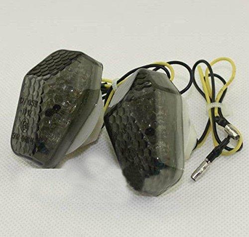 (cat1986cat1986® motorcycle flush mount led turn signal smoke lens for aftermarket universal bike suzuki gsxr)