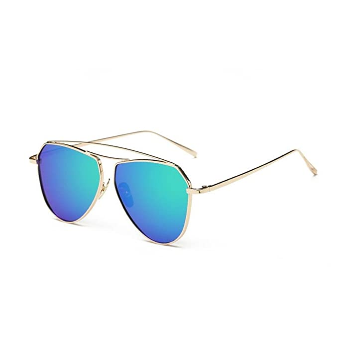 luyee tendencia personalidad gafas de sol Negro verde ...