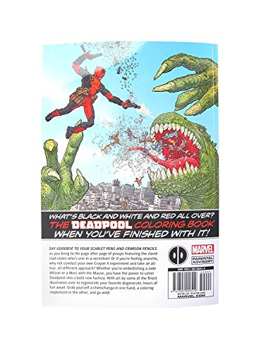 Deadpool Marvel Coloring Book Images + Colored Pencils Comic ...