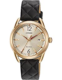 Ladies Drive from Citizen Eco-Drive LTR Black Leather Strap Watch FE6083-13P