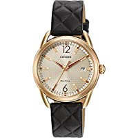 Ladies' Drive from Citizen Eco-Drive LTR Black Leather Strap Watch FE6083-13P
