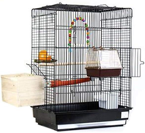 La Maison de l'Animal Jaula Peluche, hámster tortuga, pequeños animales jaulas de visualización de acero inoxidable, jaulas negras (color E, tamaño: 43 x 30,5 x 57 cm)