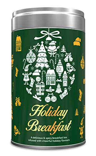 Holiday Breakfast, Christmas Tea, Gift Tin Can - Limited Edition, Spiced Blend of Premium Black Tea with Festive Spices - Cardamom, Cinnamon, Cloves & Black Pepper - Perfect Christmas Holiday Tea