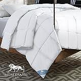 MGM Grand CF-106-3FQ All Season Goose Down Alternative Comforter, Full/Queen, White