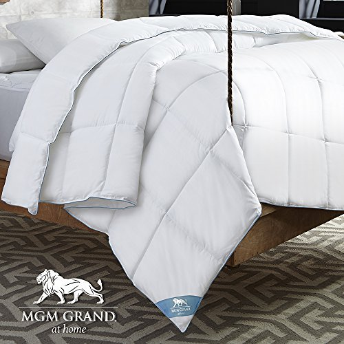 MGM Grand Home Grand Collection Will Remind You of Your Stay at The Luxurious Rooms and suites r All All Season Goose Down Alternative Comforter, Twin, White (Comforter Grand Twin Hotel)
