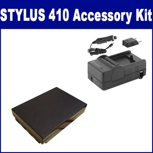 Olympus Stylus 410 Digital Camera Accessory Kit includes: SDLI10B Battery, SDM-148 Charger