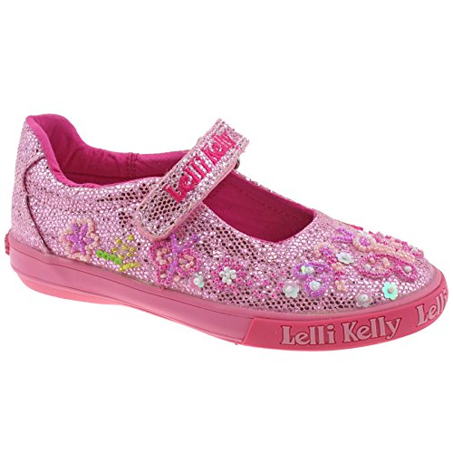 Butterfly Kelly GC01 Glitter Pink 5 Adjustable Lelli 12 UK LK5076 31 Dolly Shoes xnXFOwH
