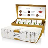 Tea Forté Warming Joy Petite Presentation Box Featuring Seasonal & Festive Tea Blends - 10 Handcrafted Pyramid Tea Infusers
