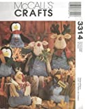 McCall's Crafts Blue Jean Buddies For Penguin Turkey and Reindeer Sewing Pattern - #3314