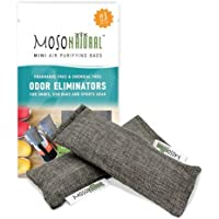 Mini Moso Natural Air Purifying Bag 2 Pack Bamboo Charcoal Air Freshener, Deodorizer, Odor Eliminator, Odor Absorber For…