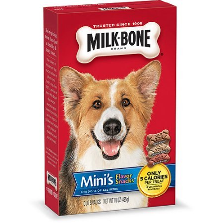 Milk-Bone Mini's Flavor Snacks Dog Treats, 15-Ounce, (Pack of 5 boxes)