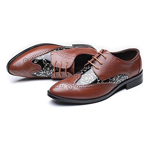 Negro Talla La Empalme Lace Pu shoes Up Fang Lisa Oxfords Wingtip 48 Marrón color Eu Zapatos Hombre Cuero Tamaño Forrados Hombre Brogue Patrón Hollow De Flor Respirables 2018 AxgqzZ