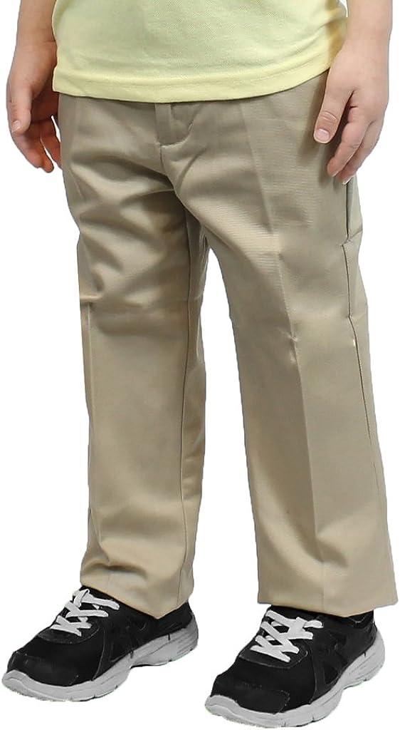Galaxy Young Men Flat Front School Uniform Pants