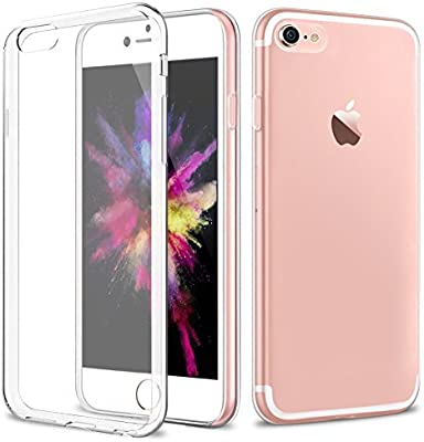 Funda iPhone 7/8, Carcasa iPhone 7/8, POOPHUNS Fundas Carcasas Case Transparente para iPhone 7/8, Ultra Fina, Anti-Estático, Anti-Rasguño, ...