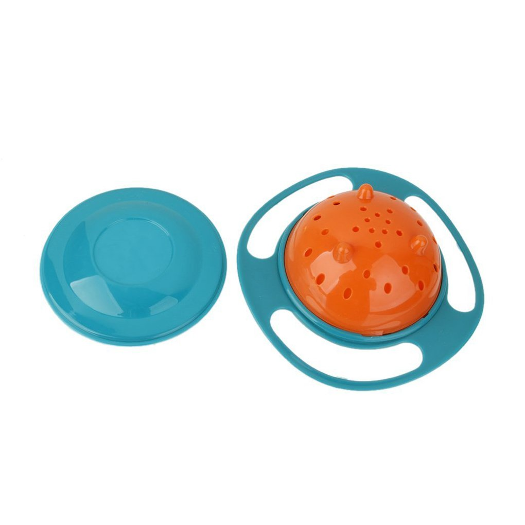Sunlera Universal Gyro Bowl Anti Spill Bowl Smooth 360 Degrees Rotation Gyroscopic Bowl for Baby Kids