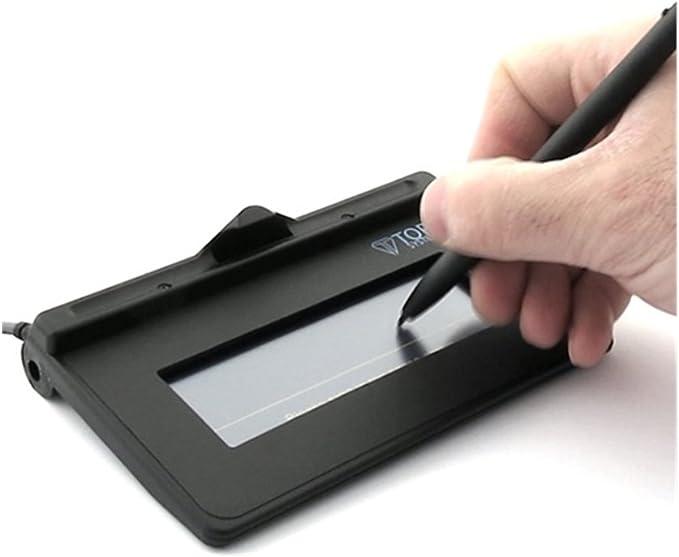 Topaz SigLite Color 4.3 T-LBK43LC-HSB-R Series USB Backlit Signature Capture Pad Renewed