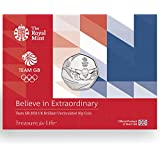 The 2016 UK Team GB 50p Coin on a card by Royal Mint