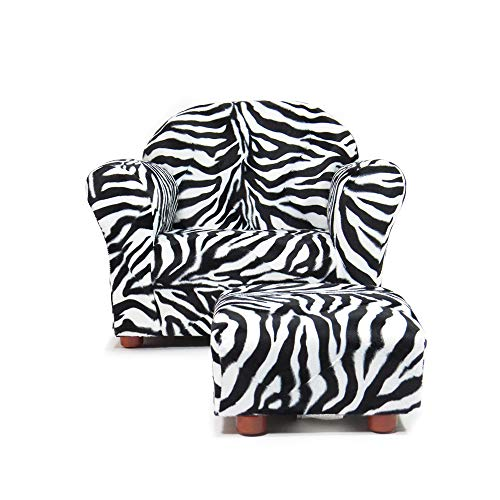 - KEET Roundy Chair with Ottoman, Zebra. (For children Ages 2 to 5)
