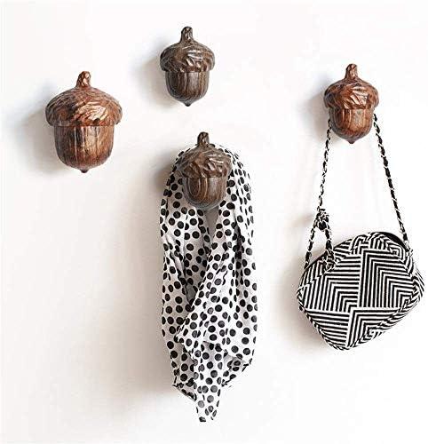 カーテン装飾クリエイティブ樹脂ドングリヘーゼルナッツカーテンフック-2個入エンボス加工の素朴な樹脂カーテンタッセルロープハンガー壁ウィンドウのパック