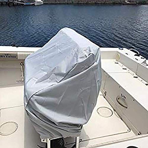 QCWN Boat Center Console Cover, Heavy Duty Waterproof Oxford Protective Covers for Center Console Boat Helm or Boat Flip-Flop Seat (Silver) ()