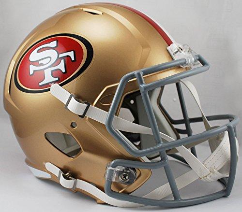 Riddell NFL San Francisco 49Ers Full Size Replica Speed Helmet, Medium, Gold