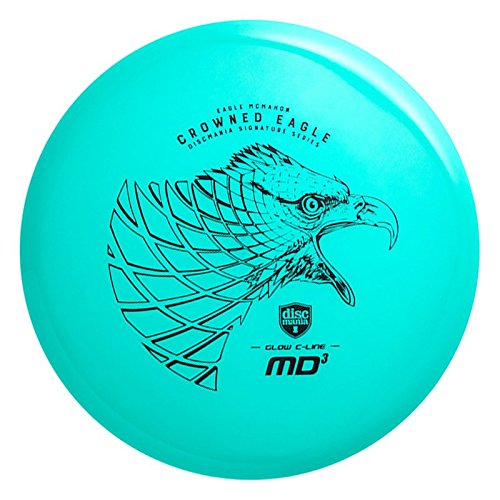 Discmania Limited Edition Signature Eagle McMahon Crowned Eagle Glow C-Line MD3 Mid-Range Golf Disc [Colors May Vary] - 178-180g